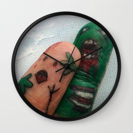 ZOMBIE FINGER ATTACK Wall Clock
