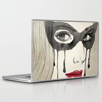 majoras mask Laptop & iPad Skins featuring Mask by Vivian Lau
