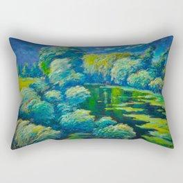Václav Radimský (1867-1946) Before The Storm Impressionist Landscape Oil Painting Rectangular Pillow