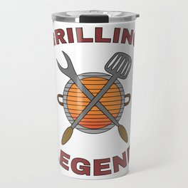 Pitmaster BBQ Barbecue food grill Put my meat in your mouth and swallow design Grilling legend Travel Mug