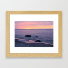 Lake Superior Sunset neat Ontonagon, Michigan Framed Art Print