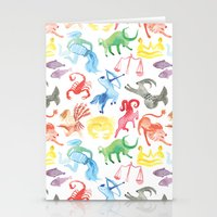zodiac Stationery Cards featuring Zodiac by holi