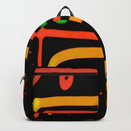 Colored Ethnic Abstract Art Backpack