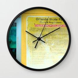 #HAZARDOUS SPORT - SKATE PARC ORLANDO, USA by Jay Hops Wall Clock