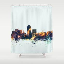 Fresno California Skyline Shower Curtain