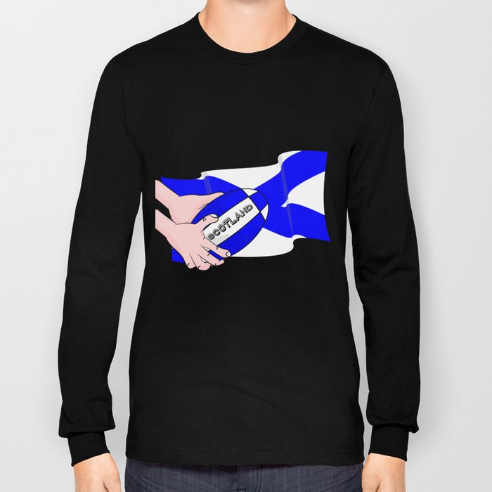 Rugby Scotland Flag Long Sleeve T-shirt