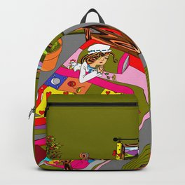 A Farm Girl Sleeps and Her Lady Chickens Play Backpack