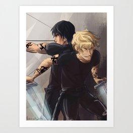Parabatai - Alec&Jace Art Print