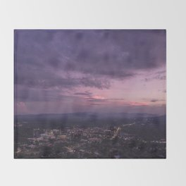 Asheville Stormy Nights Passing By Throw Blanket
