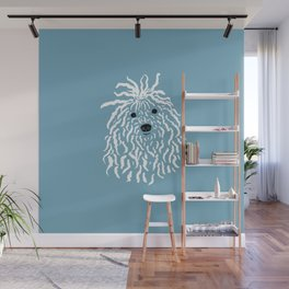Puli (Blue and White) Wall Mural