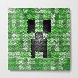 Creeper Art print Metal Print