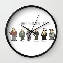 Fathers of modern architecture Wall Clock