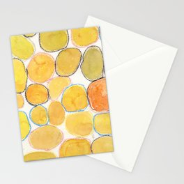 Cheerful orange Gathering Stationery Cards