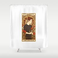 stiles stilinski Shower Curtains featuring Stiles by callahaa