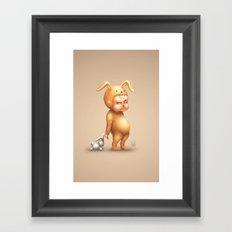 Bunny Kid Framed Art Print