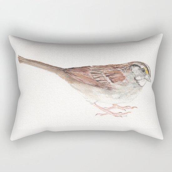 White-throated Sparrow Rectangular Pillow