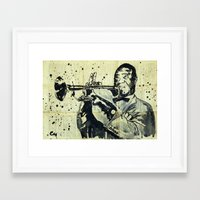 louis armstrong Framed Art Prints featuring Louis Armstrong. by Marat Cherny