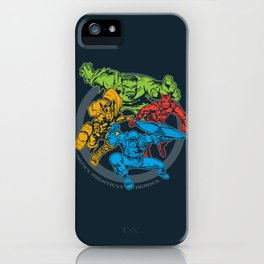 Earth's Mightiest Heroes Monochromatic iPhone Case