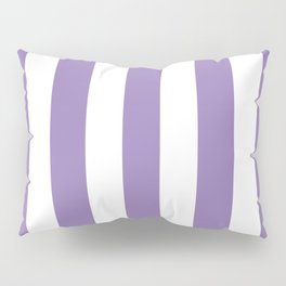 Lavender purple - solid color - white vertical lines pattern Pillow Sham