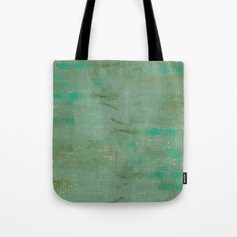 Mint green turquoise paths Tote Bag