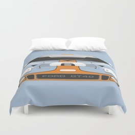 Ford GT40 in Gulf Oil livery Duvet Cover
