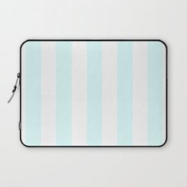 Light cyan heavenly - solid color - white vertical lines pattern Laptop Sleeve
