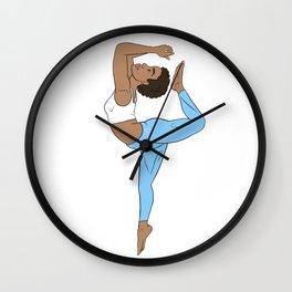 HigHERself Kemetic Yoga Sky Blue Wall Clock