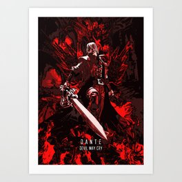 Dante son of sparda Art Print