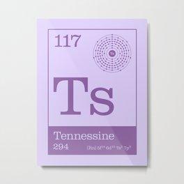 Periodic Elements - 117 Tennessine (Ts) Metal Print
