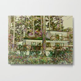 Autumn forest house Metal Print