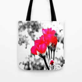 Hot Pink Flowers Pop Of Color Tote Bag