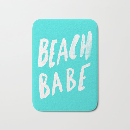Beach Babe x Teal Bath Mat