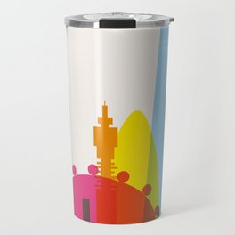 Shapes of London. Accurate to scale Travel Mug