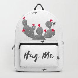 Hug Me Cactus in Pot Hearts Design Backpack