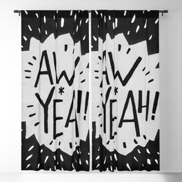 Aw Yeah! // Black and White Blackout Curtain
