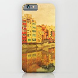 The river that reflects the city iPhone Case
