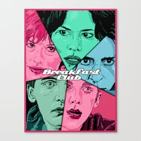 breakfast club Canvas Prints featuring Breakfast Club Colors by David Amblard