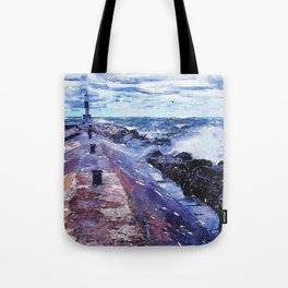 Lake Michigan Waves Tote Bag