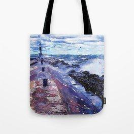 Lake Michigan Waves Tote Bag