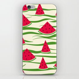 Watermelon pattern . 2 Retro . iPhone Skin