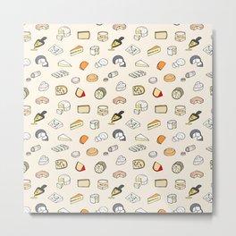 Cheese pattern Metal Print