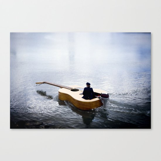 The guitar boat Canvas Print