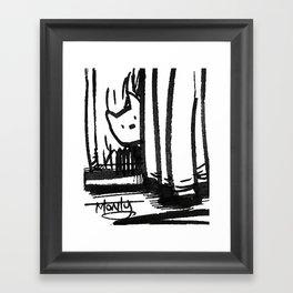 Hidden Kitty Framed Art Print