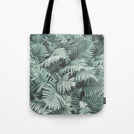 Fern Patten Turquoise Texture Tote Bag