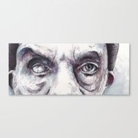 creepy Canvas Prints featuring Creepy by MarcinLichota
