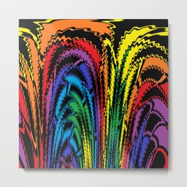 Tossing the Rainbow Metal Print