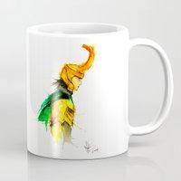 loki Mugs featuring loki by AprilHendrixBallar