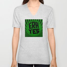 ERA YES - Green and Black Unisex V-Neck
