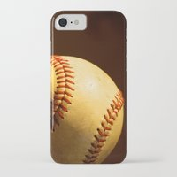 baseball iPhone & iPod Cases featuring Baseball by Janice Sullivan