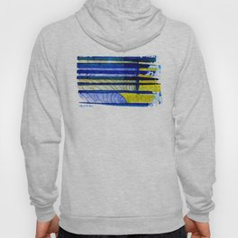 WAY OF THE OCEAN - Yellow & Blue Waves Hoody